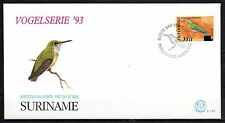 Suriname - 1993 Definitives birds overprinted -  Mi. 1430 clean FDC
