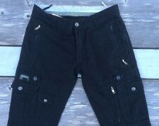 Diesel Cargo pants project 78 30x35 tall slim fit commuter reflective Black NWOT