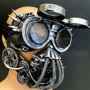 Jaw Mouth Gas Mask Costume Respirator Flip up Goggles Survival Halloween Party