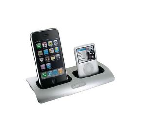 Griffin PowerDock 2 Dual-Position Charging Station for iPod and iPhone Silver