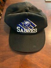 Vintage 1990's CCM Buffalo Sabres Logo Snapback Cap Hat