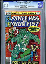 Power Man and Iron Fist #66  CGC 7.5 1980 2nd Sabretooth Marvel Comic K7A