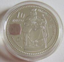 Spanien 10 Euro 2008 Europastern Alfonso X. Silber