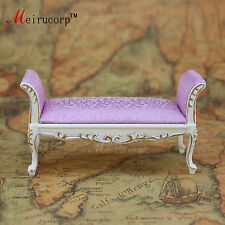 Dollhouse 1/12 scale miniature furniture Nice Handmade Gold Bed stool 10346