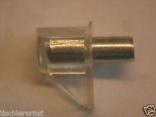 100 Stück Bodenträger Glasbodenträger transparent glasklar Ø 5 mm Metall Kst.