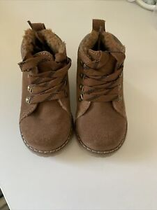 Brown Next Suede Boots Size 5UK Toddler