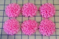 New listing Lot of 6 Flo Pink Ribbon Flowers: Hair, Baby, Girls, Barrettes, Flower Clips