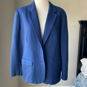 Vintage Pendleton Navy Blazer 100% Virgin Wool Women's M