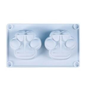 2-Cavity Cats Paws Silicone Mold Crystal Epoxy Plaster Aromatherapy Candle Mould