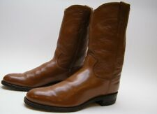 WOMENS JUSTIN BROWN LEATHER ROPER COWBOY WESTERN BOOTS 6.5~1/2 AA