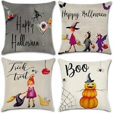 Happy Halloween Cotton Linen Pillow Case Cushion Cover Home Car Decorative Throw