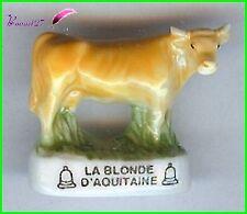 """Feve de collection Les VACHE Edition Atlas """" La Blonde d' Aquitaine """" Cow #A39"""