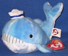 TY CAPTAIN the WHALE BEANIE BABY - MINT with MINT TAGS