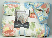 Martha Stewart Collection Savannah Rose Reversible 100% Cotton Quilt FULL QUEEN
