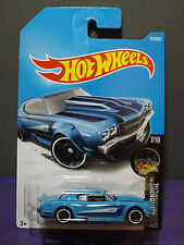 2017 Hot Wheels '70 CHEVY CHEVELLE in BLUE, NIGHTBURNERZ Series 7/10 Long Card