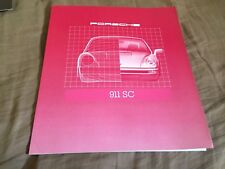 1980 Porsche 911SC Large Prestige Color Brochure Catalog Prospekt