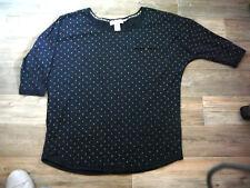 Langarm-Shirt / XL / neu / H&M / Dunckelblau mit Pünktchen