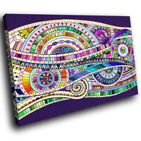 ZAB964 Colourful Retro Funky Modern Canvas Abstract Wall Art Picture Prints