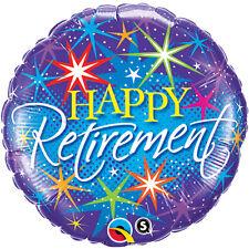 "Round Foil Balloon Retirement Colour Burst 18"" Official Party Product Qualatex"