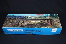 W282 VOLLMER Train Ho Maquette 2509 B Pont a arche plastique stone arch bridge