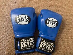 Cleto Reyes BLUE leather 14oz sparring gloves