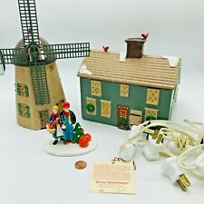 Vintage Department 56 Snow Village Country Harvest & Home Sweet Home & Windmill