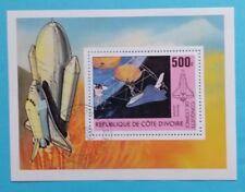 """Elfenbeinküste: Michel Block-Nr. 17 """"Raumfahrt"""" aus 1981, gestempelt"""