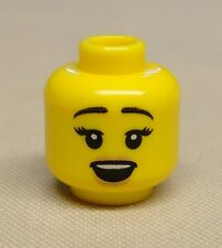 x1 NEW Lego Minifig Head Girl Female Dual Sided w/ Open Mouth / Frown