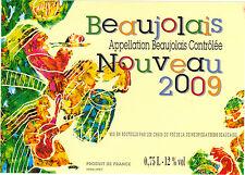 Etiquette de vin - Beaujolais Nouveau - 2009