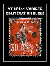 YT N°141 : OBLITÉRATION BLEUE !!!