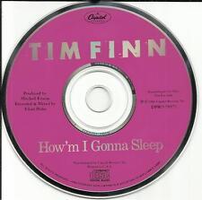 Crowded House TIM FINN How'm I Gonna Sleep1989 USA PROMO DJ CD Single DPRO79573