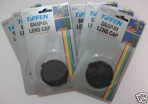 Tiffen 49mm Snap On Lens Caps for Camera Lens ~ Lot Of 2 ~ NEW