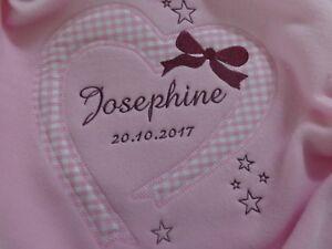 Babydecke mit Namen bestickt Taufe,Kuscheldecke,Schmusedecke,Geschenk