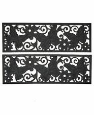 Sets of 2 Butterfly Scrollwork Outdoor Porch Patio Durable Rubber Stair Treads