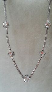 """KATE SPADE ♤ NEW YORK """"CLINK OF ICE NECKLACE"""" LONG SILVER, WEDDING. NWT $278"""