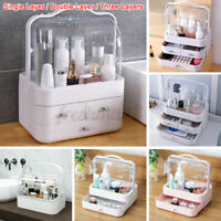 Desktop Dust Proof Cosmetic Storage Box Makeup Drawers Organizer Jewelry Case