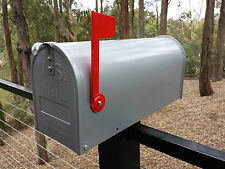 US style LETTERBOX MAIL BOX MAILBOX INDICATOR SILVER NEW GALVANIZED STEEL RSD