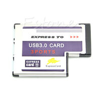 New USB 3.0  54mm Express Card 3 Port Adapter Expresscard for Laptop FL1100 Chip