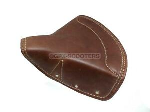 New Tan Pure Leather Front Seat Cover For Bsa Triumph Royal Enfield Standard