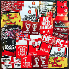 100 x Nottingham Forest Ultra Style Stickers inspired by Poster Programme Clough