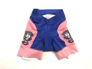 XS Women's Team Erica MS Hincapie Cycling Short Pink/Blue CLOSEOUT