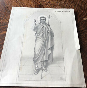 Russian Religious Pencil Drawing