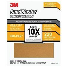 Sandpaper Grip 220 9x11in 15pk