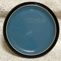 "Denby DUETS BLACK & BLUE Salad Plate 8-1/2"" EXCELLENT Last One!!!!!"