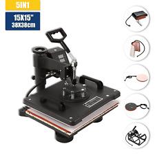 5IN1 38x38cm Heat press machine Máquina de prensa de calor for T-Shirt/Cap/ Mug