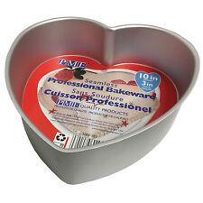 """PME 10x3"""" Molde Corazón Aluminio Anodizado Estaño Hornear Pastel"""