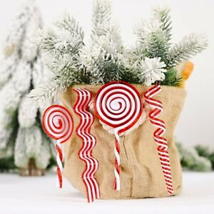 Christmas Candy Cane Pendant Hanging Ornament Xmas Tree Party Decor 2021 New