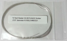 10 Feet Kester Solder .015in K100LD Tin/Cu Lead Free 24-9574-6422 -Buy2Get1 FREE