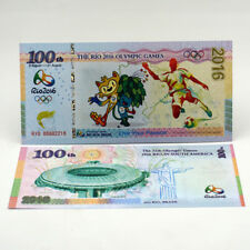 New listing 100 Pcs Brazil Rio 2016 Olympic Games Test Note Banknotes Paper Money Unc