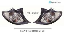 BMW E46 3 SERIES 2001-2005 Clear Surround Front Indicator Lights 1 x Pair L+R